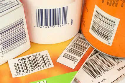 Different products with barcodes