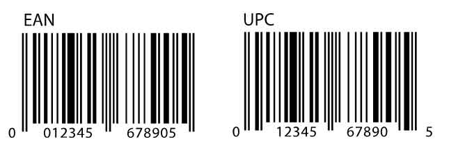 EAN Barcode and UPC Barcode side by side